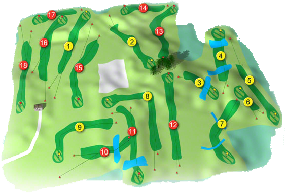 Abbeyleix Golf Course Layout