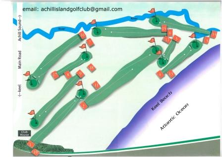 Achill Island Golf Course Layout