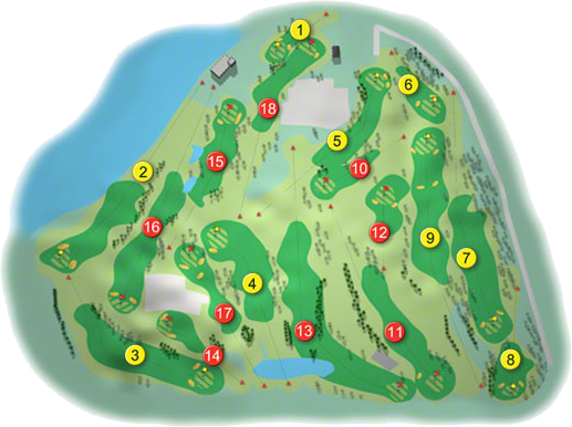 Adare Manor Golf Course Layout