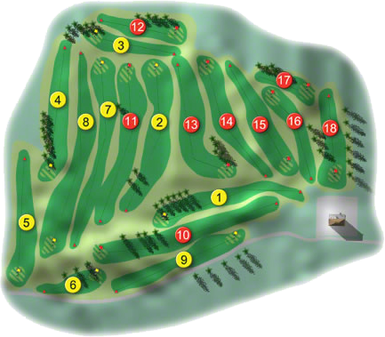Athenry Golf Course Layout