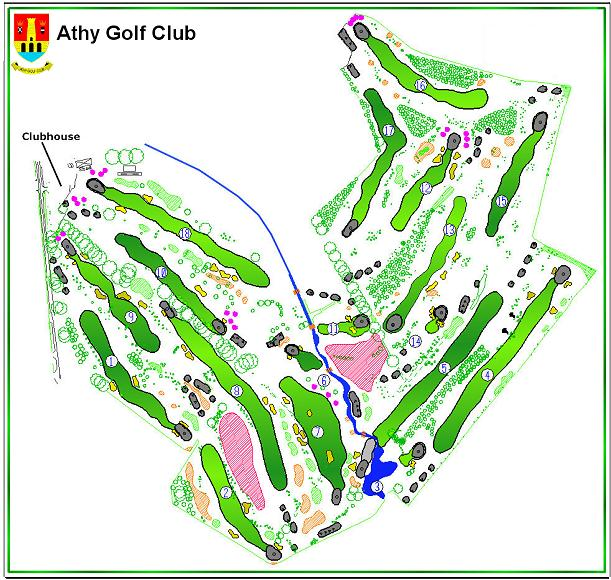 Athy Golf Course Layout