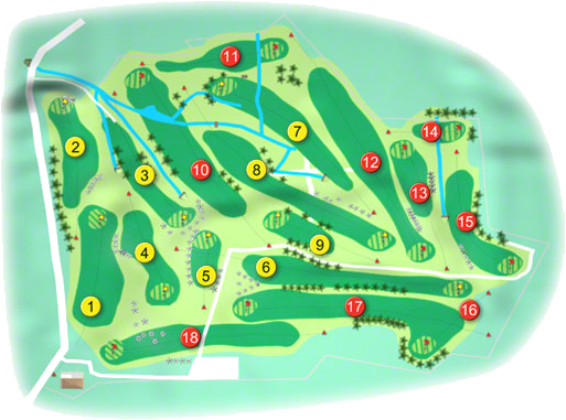 Ballina Golf Course Layout