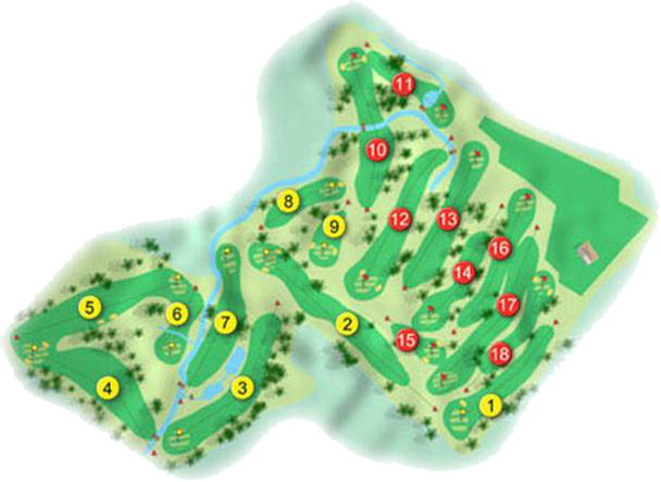 Ballyclare Golf Course Layout
