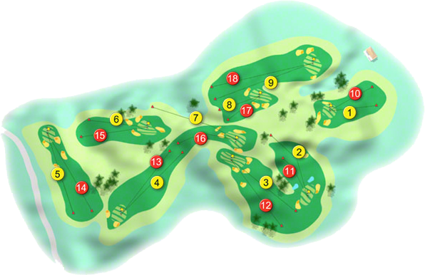 Ballyhaunis Golf Course Layout