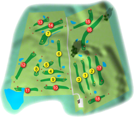 Bearna Golf Course Layout