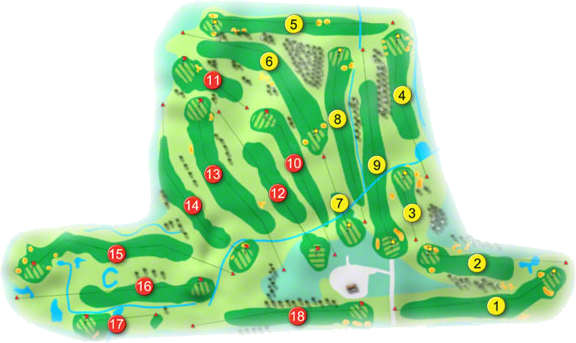 Beaverstown Golf Course Layout