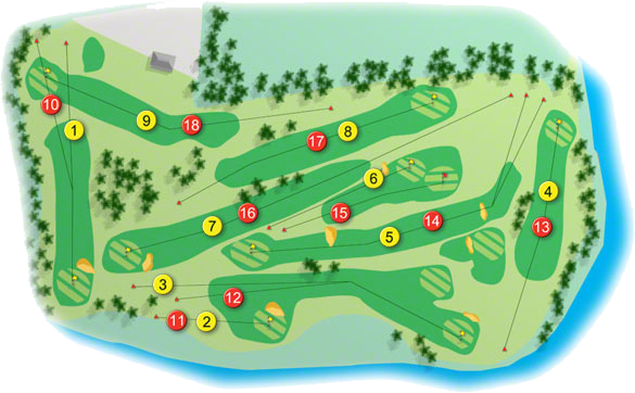 Blacklion Golf Course Layout