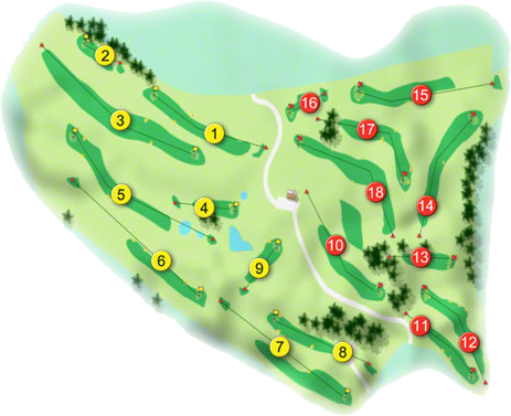 Bray Golf Course Layout