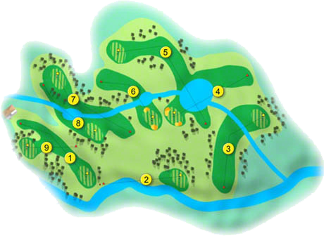 Brown Trout Golf Course Layout