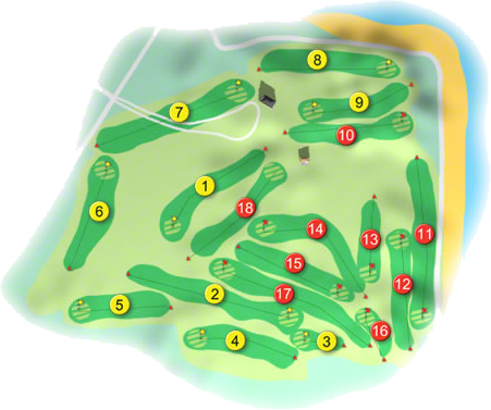 Bundoran Golf Course Layout