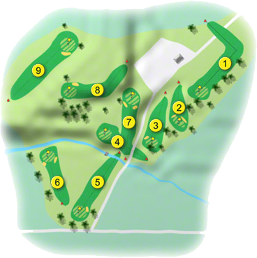 Cabra Castle Golf Course Layout