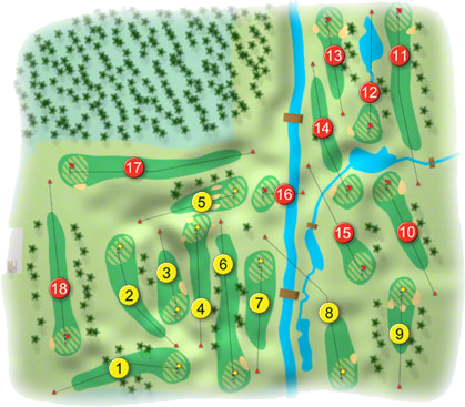Cahir Park Golf Course Layout