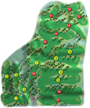 Carnalea Golf Course Layout