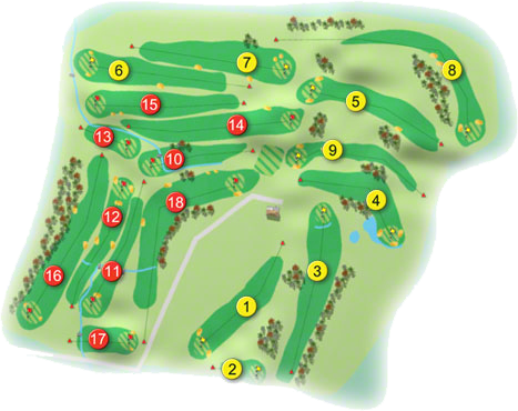 Castlewarden Golf Course Layout