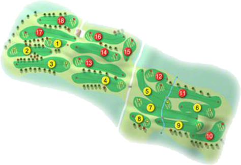City of Derry Golf Course Layout