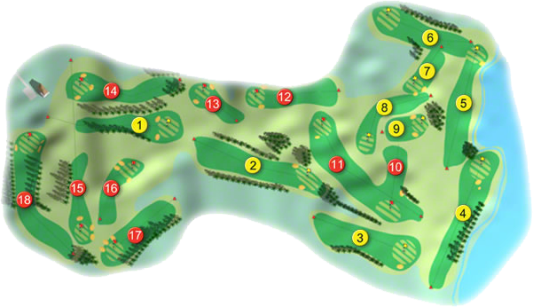 Cork Golf Course Layout