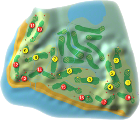 Co. Sligo/Rosses Point Golf Course Layout