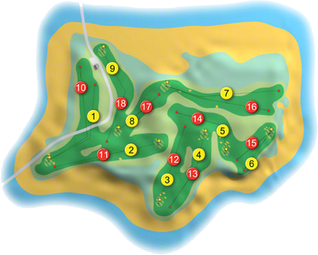 Cruit Island Golf Course Layout