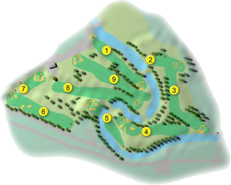 Cushendall Golf Course Layout