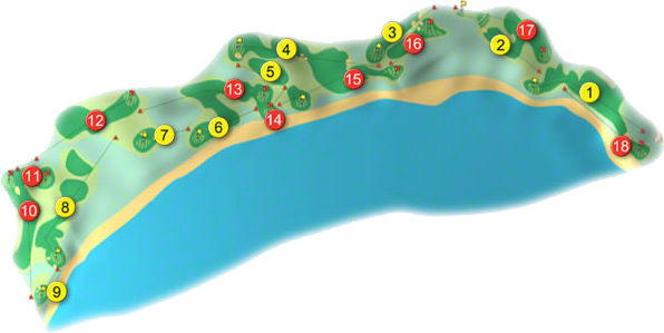 Doonbeg Golf Links Golf Course Layout
