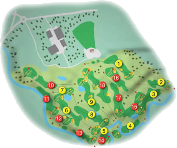Down Royal Golf Course Layout