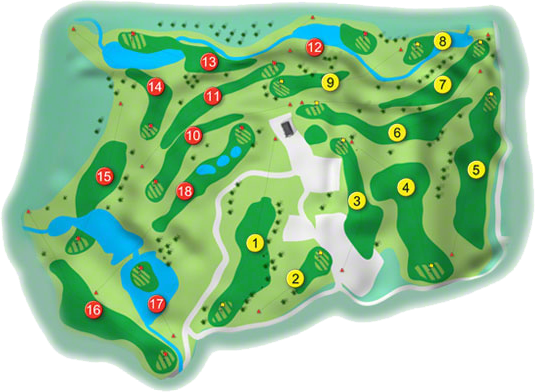 Druid's Glen, Druid's Heath Golf Course Layout
