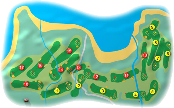 Dunfanaghy Golf Course Layout