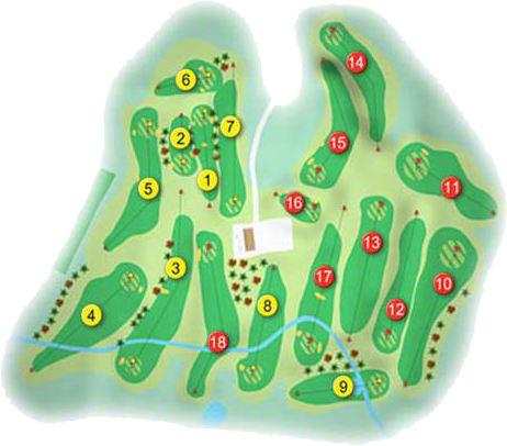 Dungannon Golf Course Layout