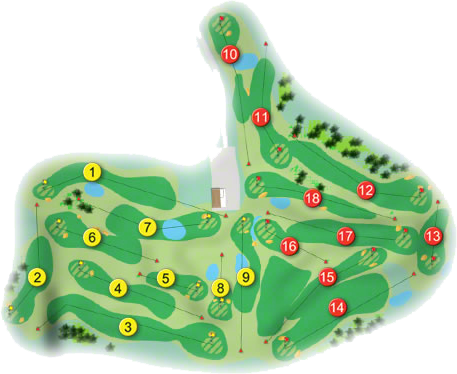 Dungarvan Golf Course Layout