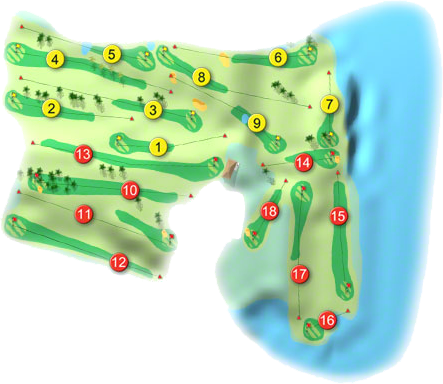 Dunmore East Golf Course Layout