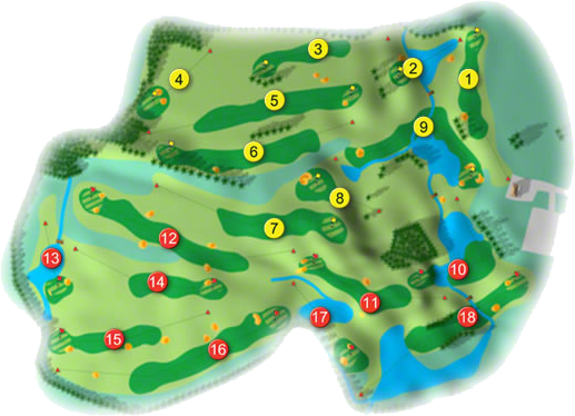 East Clare Golf Course Layout