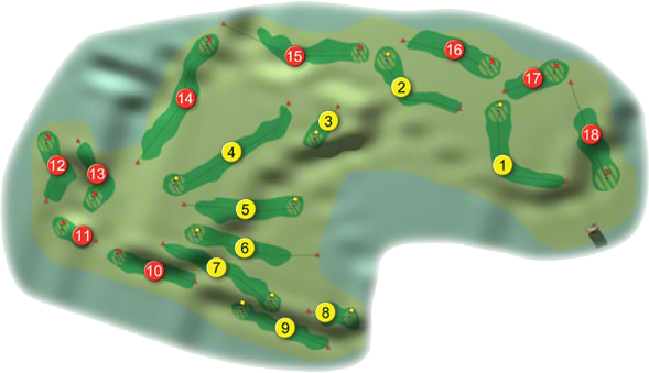 Enniscrone Golf Course Layout