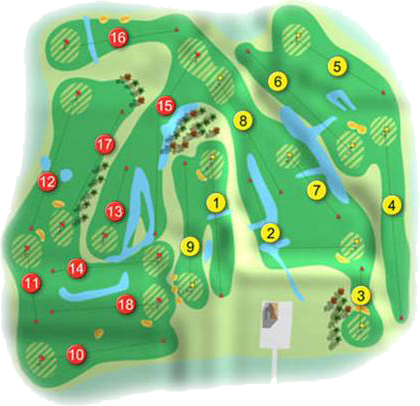 Galgorm Castle Golf Course Layout