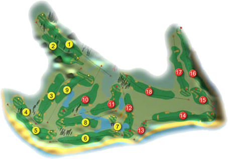 Galway Bay Golf Resort Golf Course Layout