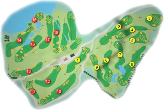Glasson Golf Course Layout