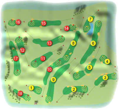 Glen of the Downs Golf Course Layout