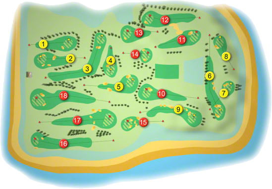 Gold Coast Golf Course Layout