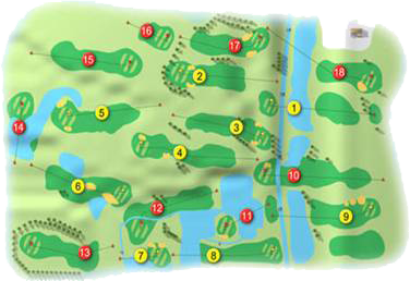 Green Acres Golf Course Layout