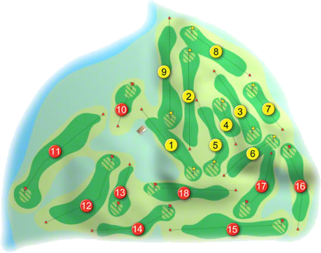 Hermitage Golf Course Layout