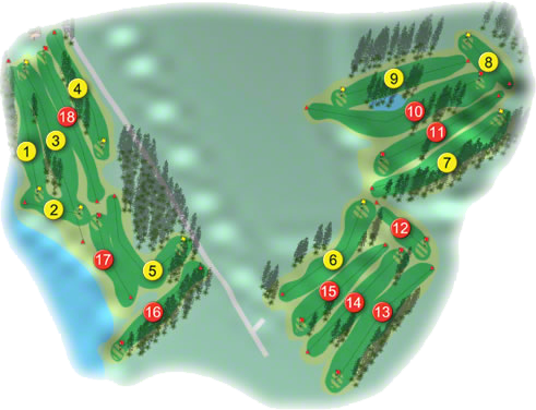 Kenmare Golf Course Layout