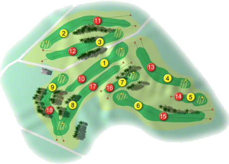 Killiney Golf Course Layout
