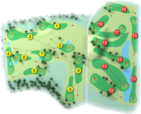 Knockanally Golf Course Layout