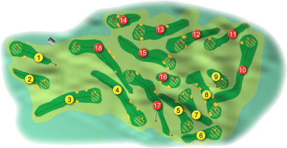 Laytown and Bettystown Golf Course Layout