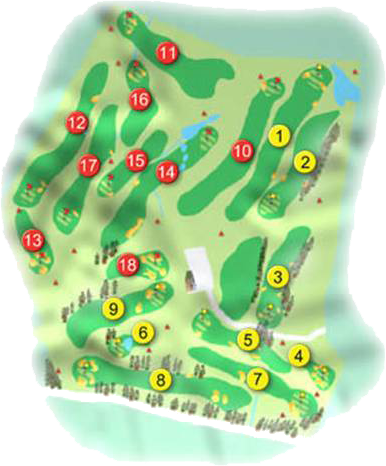Lisburn Golf Course Layout
