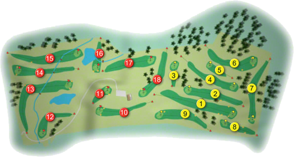 Lisheen Springs Golf Course Layout