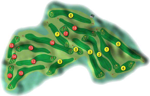 Loughrea Golf Course Layout