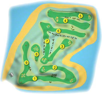 Mahee Island Golf Course Layout