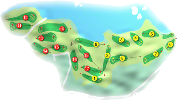 Mahon Golf Course Layout