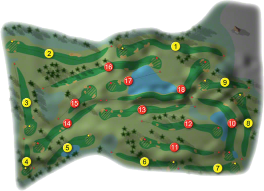 Millicent Golf Course Layout