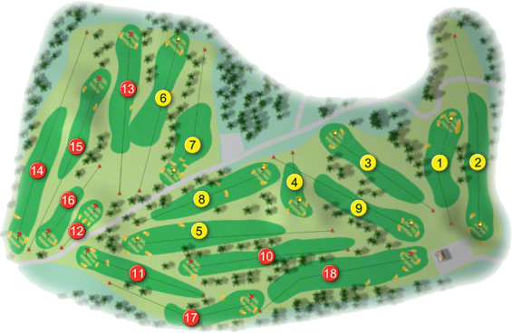 Milltown Golf Course Layout